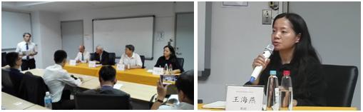 """王海燕教授在""""两岸创新教育论坛""""圆桌会议上与两岸专家进行讨论"""